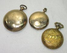 3 Pocket Watches H.C.