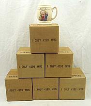 6 N.O.S. Hires Root beer Mugs