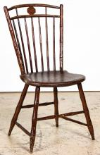 Antique Windsor Chair Stamped E.P. Rose