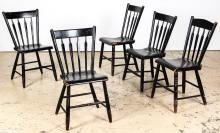 5 Antique Windsor Chairs