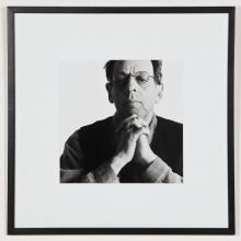 B+W Portrait of Composer Phillip Glass