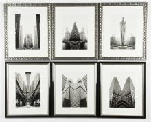 Suite of 6 Chicago Landmarks Photographic Posters