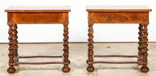 Antique William and Mary Style Bed Stands