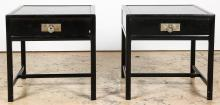2 Asian Inspired Labeled Baker End Tables
