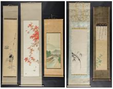 A Collection of 5 Japanese Paintings (17th-20th century)