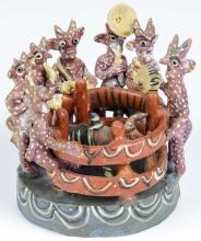 Vintage Ocumicho Mexican Pottery Group