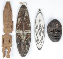 4 South Pacific Tribal Artifacts.