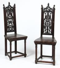 Pair of Gothic Revival Chairs