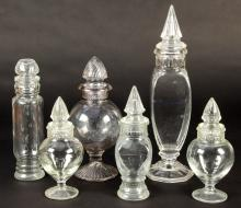 Group of 6 Antique Glass Candy Jars