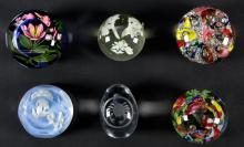Collection of 6 Glass Paperweights