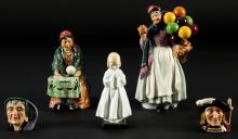 5 Royal Doulton Porcelain Figurines