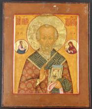 Antique Moscow School Russian Icon of St. Nicholas