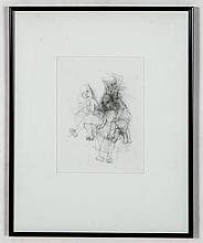 Judy Glantzman (American, 1956) Original Figure Drawing