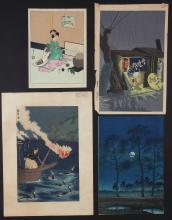4 Old Japanese Prints