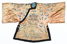 Antique Chinese Silk Embroidered Dragon Jacket