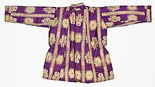 Antique Middle Eastern Silk Embroidered Robe