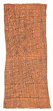 Painted Bark Cloth, Mbuti People, D.R. Congo: 14.75
