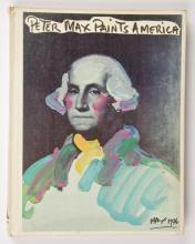 Peter Max Paints America Autographed Book