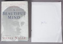 A Beautiful Mind signed by Author with John Nash Autograph