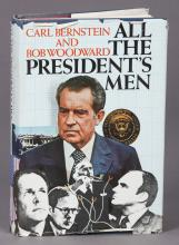 All The President's Men Signed by Woodward, Bernstein and Bradlee