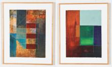 Two Framed Abstract Works of Art