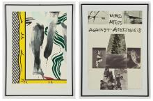 Artists Against Apartheid, 1983: 15 Color Lithographs including Roy Lichtenstein and Rauschenberg