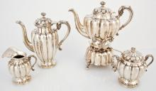 6 Piece Sanborns Mexican Sterling Silver Coffee and Tea Service