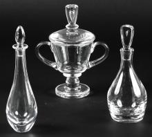 3 pc Steuben Crystal Group
