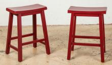 Matching Red Chinese Style Stools