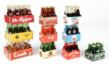 Group of 10 Miniature Novelty Soda and Beer Bottle Packs