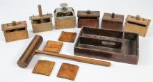 Collection of Treenware Butter Molds