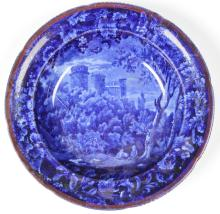 Historical Flow Blue Staffordshire Plate