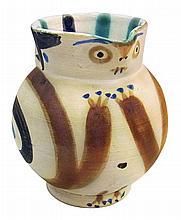**Pablo Picasso 1881-1973 (Spanish) Petite chouette, 1949 glazed ceramic, edition of 200