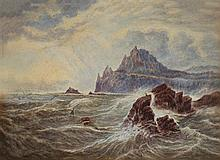George Chamier 1842-1915 (New Zelander) Landscape, 1860's two watercolors on paper