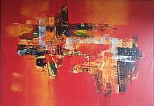 Unknown Indonesian Artist Abstract composition, 2008 acrylic on canvas