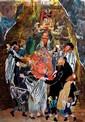 Judith Yellin 1923-2005 (Israeli) Hassidic dance, 2001 paper collage