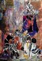 Judith Yellin 1923-2005 (Israeli) Hassidim, 1990 paper collage