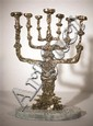 Salvador Dali 1904-1989 (Spanish) The menorah, 1980 bronze with patina