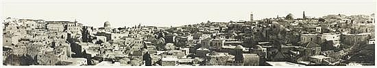 W. R. Wallace 19th-20th century Panorama of Jerusalem, c. 1910 vintage silver print