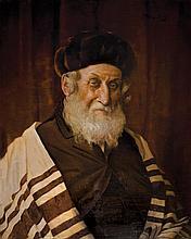 Alois Heinrich Priechenfried 1867-1953 (Austrian) Rabbi oil on board