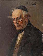 **Alois Heinrich Priechenfried 1867-1953 (Austrian) Portrait of a Jew oil on panel