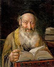 **Joseph Jost b.1888 (Austrian) Rabbi oil on canvas