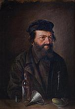 **Mikhail Irodionovich Dashkevich c.1863-1930 (Russian) Portrait of a Jew,1893 oil on panel