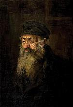 **Nikolaj Ivanovic Kravcenko 1867-c.1937 (Russian) Man with a beard oil on canvas