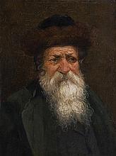 European School 19th century Portrait of Rabbi oil on panel