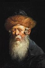 Polish school 19th century Rabbi oil on panel