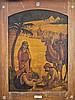 Zeev Raban 1890-1970 (Israeli) Halachma Anya (The bread of affliction) oil on Bezalel wooden panel and bone frame, Zeev Raban, $12,000