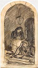 Jakob Steinhardt 1887-1968 (Israeli) Learning, 1938 pencil on paper