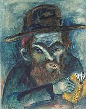 **Issachar Ber Ryback 1897-1935 (Russian) Portrait of the Rabbi watercolor on paper
