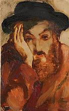 **Mané Katz 1894-1962 (Ukrainian, French) Portrait oil on canvas